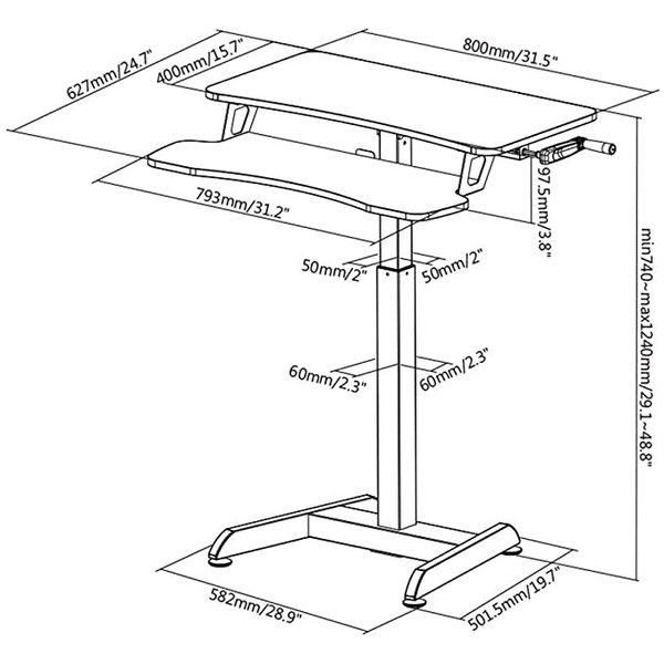Klein Handslinger Zit-Sta Bureau - Updesk High