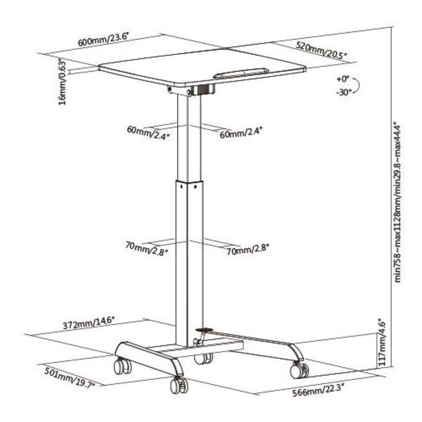 Kleine Gasveer Zit-Sta tafel - MobiSpot