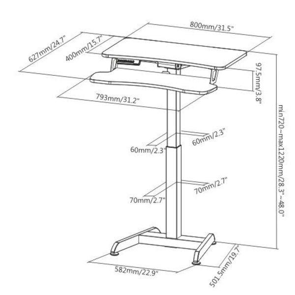 Klein Elektrisch Zit-Sta Bureau - Updesk High