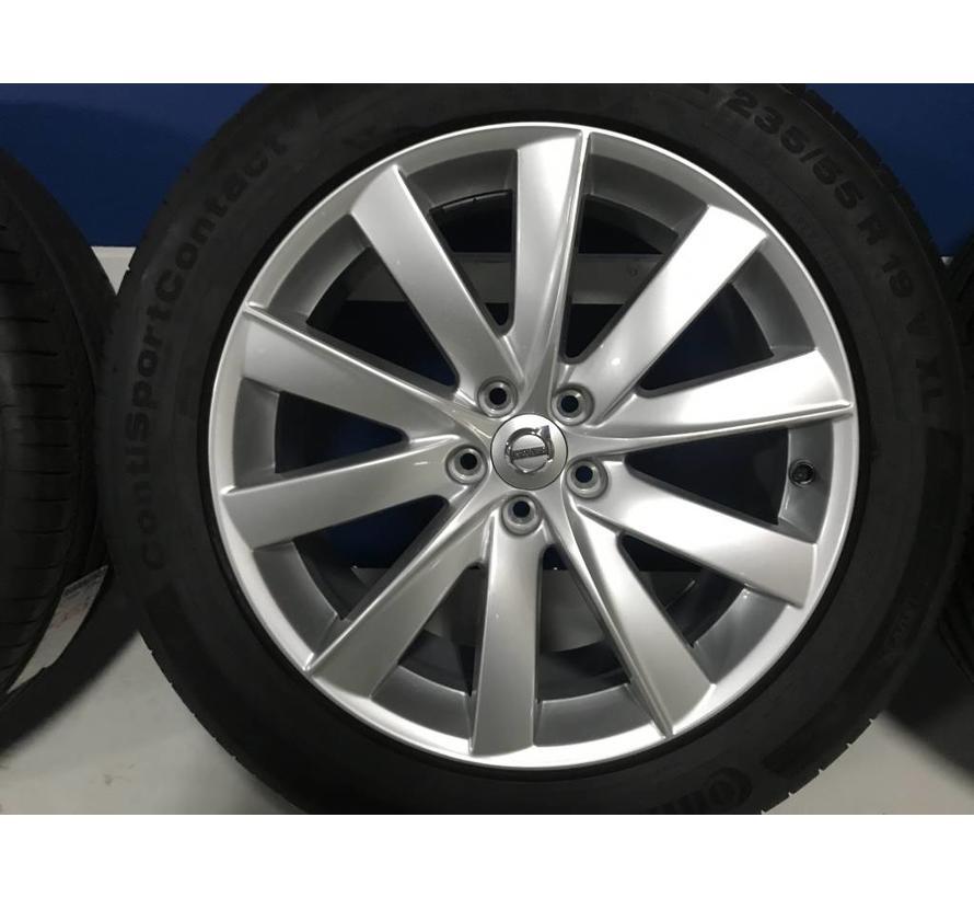 "Volvo 19"" 10-spaaks Turbine Silver velgen + Continental zomerbanden XC90 >2016"