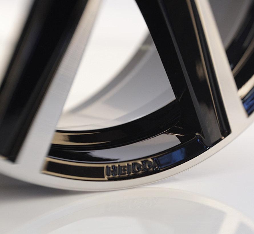 Heico VOLUTION velg type VII Black diamond cut 20 inch