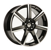 Volvo Heico VOLUTION velg type VII Black diamond cut 20 inch