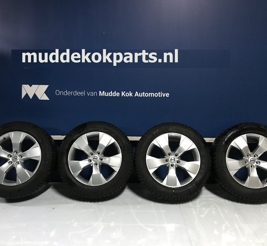 Volvo 18 inch 5 spaak velgen + Winterbanden XC40 V90 CC