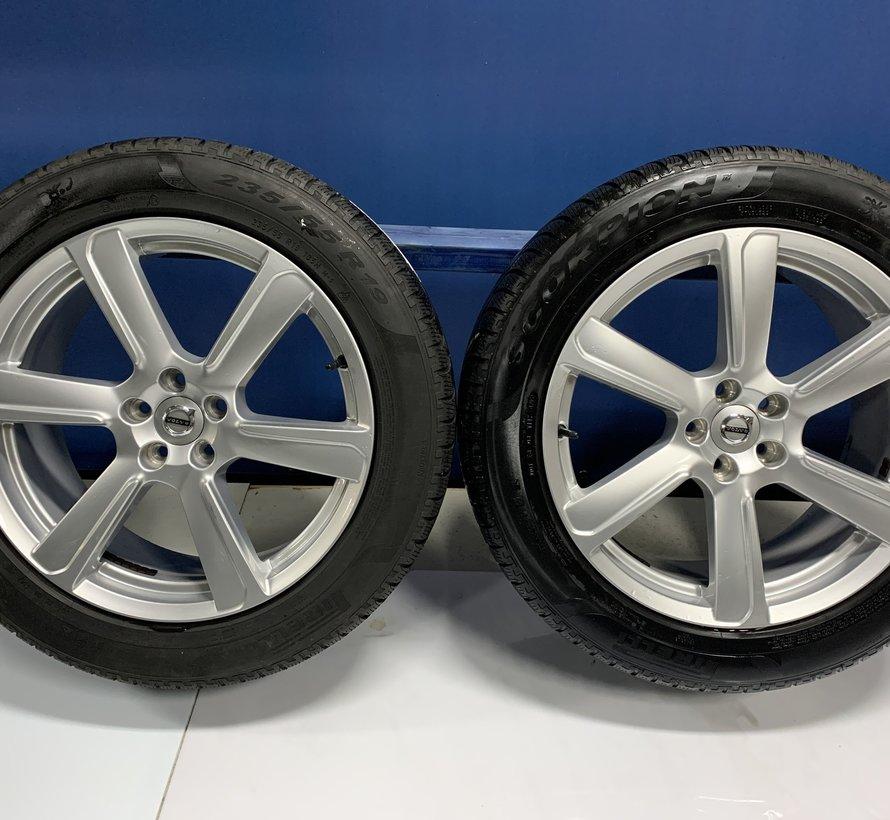 Volvo 19 inch 6-spaaks Turbine Silver velgen + winterbanden XC90 2015-