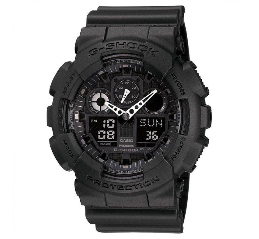 CASIO - GA-100-1A1ER - G-Shock - horloge - Mannen - Zwart - Kunststof Ø 50 mm
