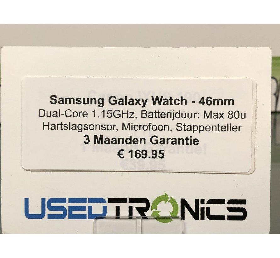Samsung Galaxy Watch (46mm) Zilver (Zwart) (5444)