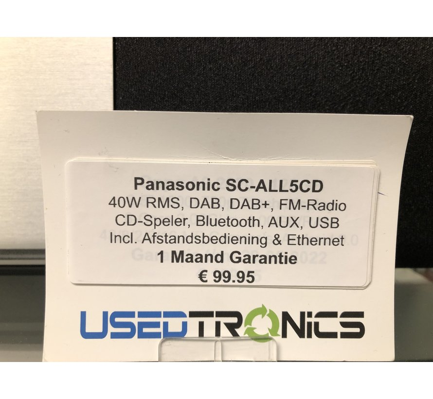 Panasonic SC-ALL5CD (5700) 40W RMS | Bluetooth | DAB/DAB+ | CD-Speler