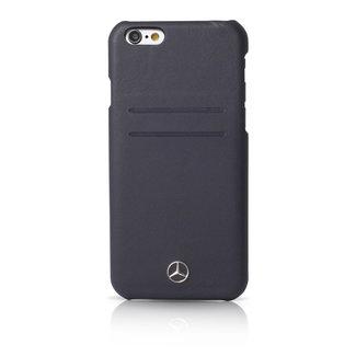 Mercedes-Benz Mercedes-Benz Backcover hoesje Blauw - Modieus - Leer - iPhone 6/6S Plus  - pashouder