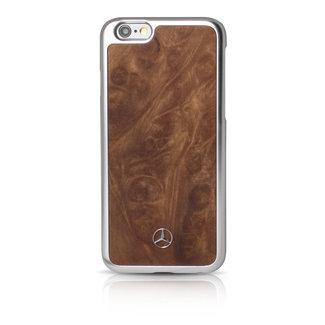 Mercedes-Benz Mercedes-Benz Backcover hoesje Bruin - Wood look - Leer - iPhone 6/6S Plus  - Modern