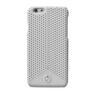 Mercedes-Benz Mercedes-Benz Backcover hoesje Grijs - Perforated - Leer - iPhone 6/6S Plus  - Modern