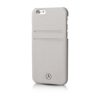 Mercedes-Benz Mercedes-Benz Backcover hoesje Grijs - Modieus - Leer - iPhone 6/6S Plus  - pashouder