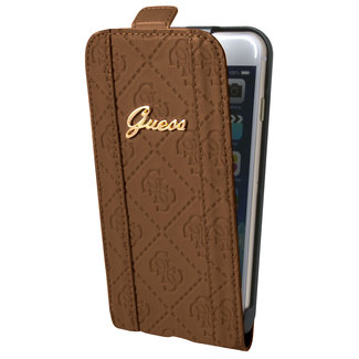Guess Guess Book Case Bruin - Flip it open - iPhone 6/6S Plus  - Soft touch