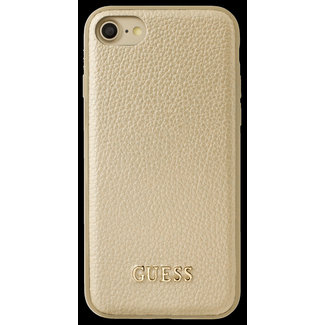 Guess Guess Backcover hoesje Goud - Guess Classic Collection - iPhone 6/6S/7/8  - Siliconen rand