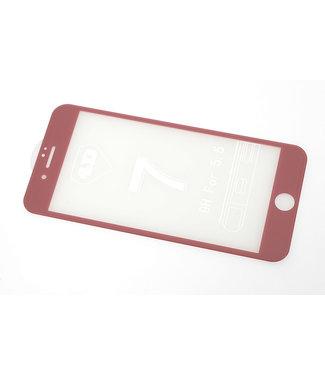 xlmobiel.nl Glas screenprotector H9 4D voor Apple iPhone 7 Plus - Rose Gold (8719273251638)