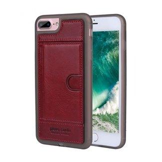 Pierre Cardin Pierre Cardin Backcover hoesje Rood - Stijlvol - Leer - iPhone 7 en  iPhone 7  - Luxe cover