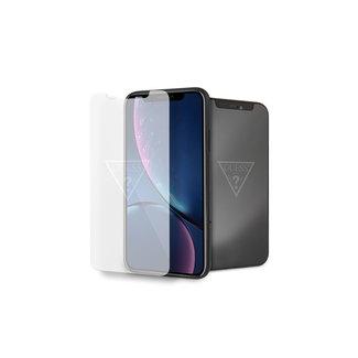 Guess GUESS Glas screenprotector voor iPhone XR - Transparant - Logo van GUESS licht op als scherm uit staat!