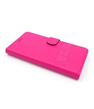 xlmobiel.nl Samsung Galaxy A5 (2016) Pasjeshouder Roze Booktype hoesje - Magneetsluiting - Kunststof;TPU