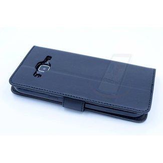 xlmobiel.nl Samsung Galaxy J2 (2016) Pasjeshouder Zwart Booktype hoesje - Magneetsluiting