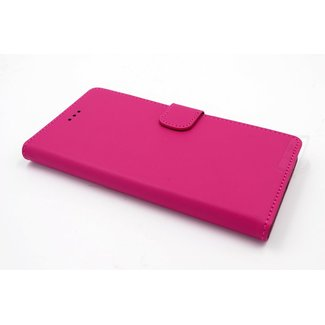 xlmobiel.nl Samsung Galaxy J3 (2016) Pasjeshouder Roze Booktype hoesje - Magneetsluiting - Kunststof;TPU
