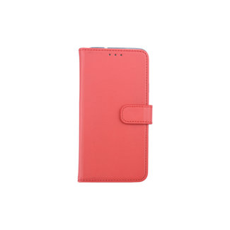 xlmobiel.nl Samsung Galaxy J7 (2018) Pasjeshouder Rood Booktype hoesje - Magneetsluiting - Kunststof;TPU