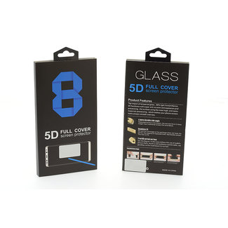 Glas screenprotector 5D SMALL voor Samsung Galaxy Note 8 - Transprant (8719273256404)