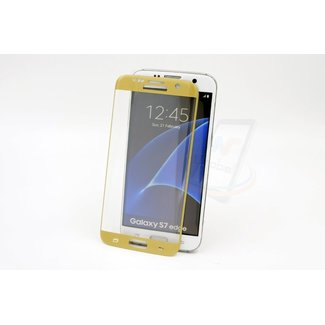 Samsung Galaxy S7 Edge - Glas Screen protectors - Goud (8719273209165)