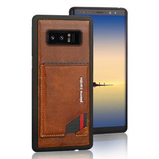 Pierre Cardin Pierre Cardin Backcover hoesje Bruin - Stijlvol - Leer - Galaxy Note8  - Luxe cover