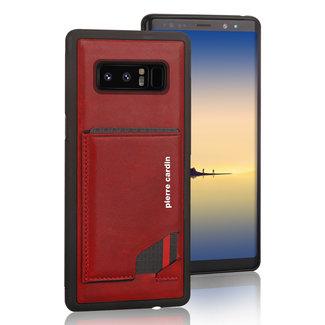 Pierre Cardin Pierre Cardin Backcover hoesje Rood - Stijlvol - Leer - Galaxy Note8  - Luxe cover