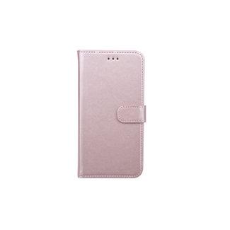 xlmobiel.nl Samsung Galaxy A6+(2018) Pasjeshouder Roze Booktype hoesje - Magneetsluiting