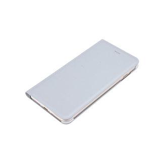 xlmobiel.nl Apple iPhone 8 Plus Pasjeshouder Zilver Booktype hoesje - Magneetsluiting