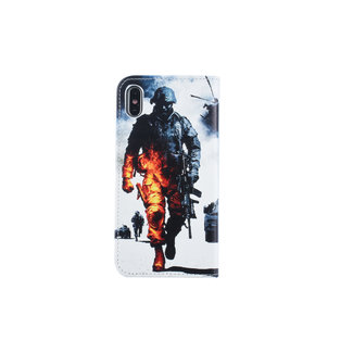 xlmobiel.nl Apple iPhone Xs Max Pasjeshouder Print Booktype hoesje - Magneetsluiting