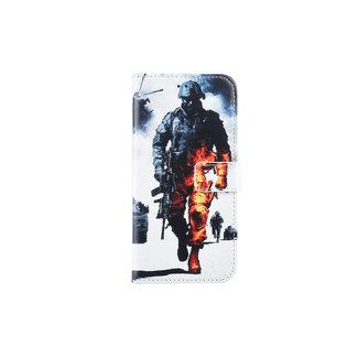 xlmobiel.nl Huawei  P20 Lite Pasjeshouder Print Booktype hoesje - Magneetsluiting