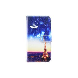 xlmobiel.nl Samsung Galaxy A6 (2018) Pasjeshouder Print Booktype hoesje - Magneetsluiting (A6 2018)