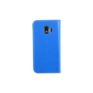 xlmobiel.nl Samsung Galaxy J2 (2018) Pasjeshouder Blauw Booktype hoesje - Magneetsluiting