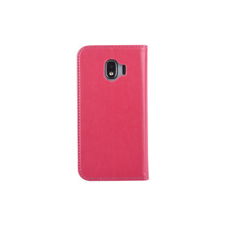 xlmobiel.nl Samsung Galaxy J2 (2018) Pasjeshouder Roze Booktype hoesje - Magneetsluiting