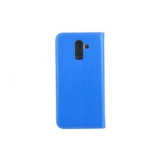 xlmobiel.nl Samsung Galaxy J8 (2018) Pasjeshouder Blauw Booktype hoesje - Magneetsluiting - Kunststof;TPU