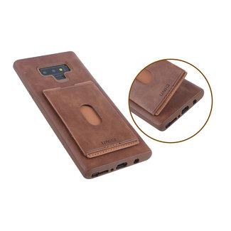 UNIQ Accessory UNIQ Accessory Galaxy Note 9 Kunstleer Backcover hoesje met portemonnee - Bruin