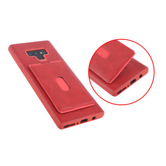 UNIQ Accessory UNIQ Accessory Galaxy Note 9 Kunstleer Backcover hoesje met portemonnee - Rood