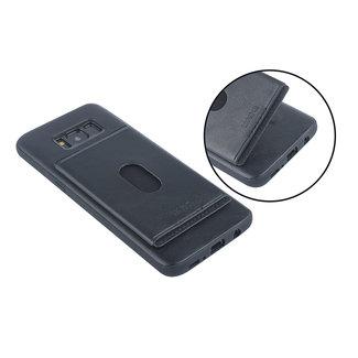 UNIQ Accessory UNIQ Accessory Galaxy S8 Plus Kunstleer Backcover hoesje met portemonnee - Zwart (G955F)