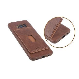 UNIQ Accessory UNIQ Accessory Galaxy S8 Plus Kunstleer Backcover hoesje met portemonnee - Bruin (G955F)