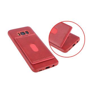 UNIQ Accessory UNIQ Accessory Galaxy S8 Plus Kunstleer Backcover hoesje met portemonnee - Rood