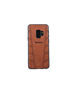 Samsung Galaxy s9 soft touch back cover met siliconen houder-Bruin