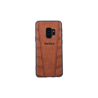 xlmobiel.nl Samsung Galaxy s9 soft touch Backcover hoesje met siliconen houder-Bruin
