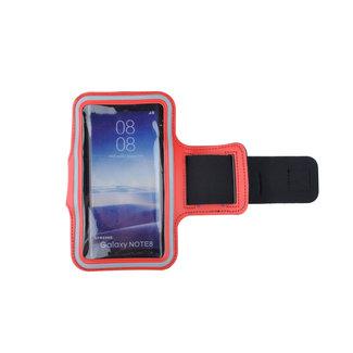 xlmobiel.nl Sport armband XL - Geschikt voor iPhone 6 Plus/6s Plus/7 Plus /8 Plus/ X / XS / XS  Max/Samsung s8 Plus / s9 Plus / s10 Plus / Huawei p30 - D Blauw - Rood
