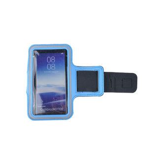 xlmobiel.nl Sport armband XL - Geschikt voor iPhone 6 Plus/6s Plus/7 Plus /8 Plus/ X / XS / XS  Max/Samsung s8 Plus / s9 Plus / s10 Plus / Huawei p30 - D Blauw - Blauw