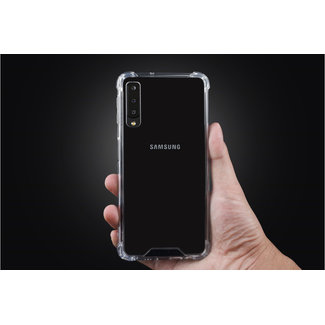 Backcover hoesje voor Samsung Galaxy A7 (2018) - Transparant