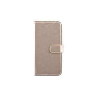 xlmobiel.nl Samsung Galaxy J5 (2017) Pasjeshouder Goud Booktype hoesje - Magneetsluiting - Kunststof;TPU