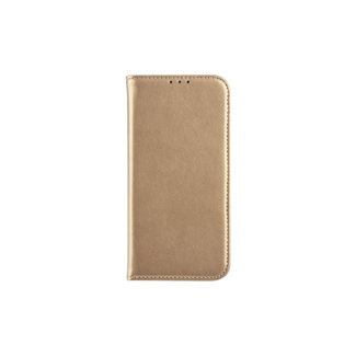 xlmobiel.nl Samsung Galaxy A6 (2018) Pasjeshouder Goud Booktype hoesje - Magneetsluiting - Kunststof;TPU