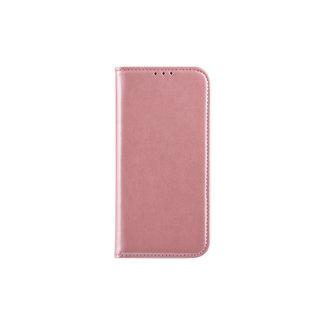 xlmobiel.nl Samsung Galaxy A6 (2018) Pasjeshouder Roze Booktype hoesje - Magneetsluiting - Kunststof;TPU