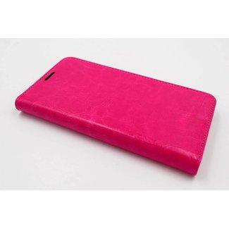 xlmobiel.nl Samsung Galaxy J5 (2016) Pasjeshouder Roze Booktype hoesje - Magneetsluiting - Kunststof;TPU